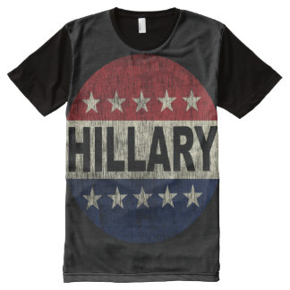 Vintage Vote Hillary 2016 Button Shirt