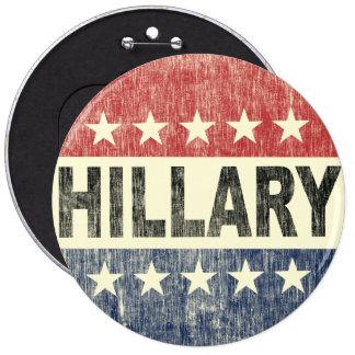 Vintage Vote Hillary Button - Hillary 2016 Button