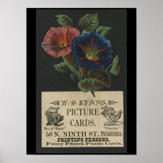 Vintage W.C. Evans letterpress poster