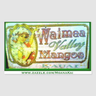 Vintage Waimea Valley Mangoes Kauai Sticker