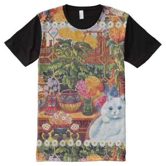 Vintage Wain Botanist Flower Cat