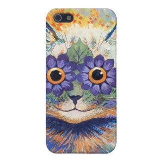 Vintage Wain Hippie Flower Cat Speck Case iPhone 5 Cases