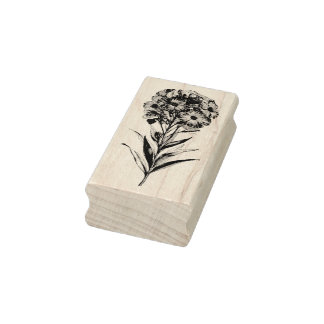 Vintage Wall flower etching Rubber Stamp