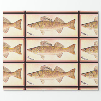 Vintage Walleye Pike Illustration Wrapping Paper
