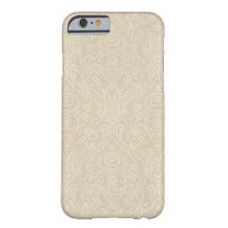 Vintage Wallpaper Beige Floral Elegant Damask Barely There iPhone 6 Case