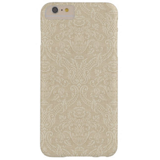 Vintage Wallpaper Beige Floral Elegant Damask Barely There iPhone 6 Plus Case
