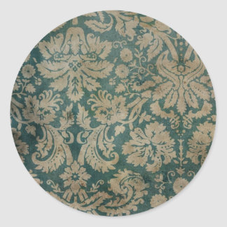 Vintage Wallpaper Classic Round Sticker