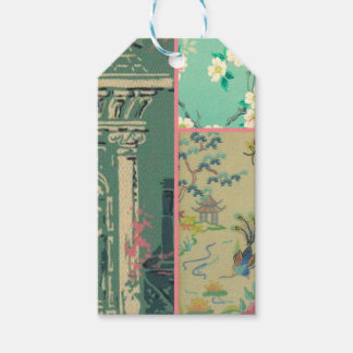 Vintage wallpaper collage gift tags pack of gift tags