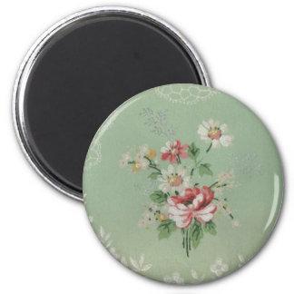 Vintage Wallpaper Flowers Magnet