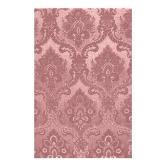 Vintage Wallpaper Pattern Pink Stationery Paper