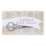 Vintage Wallpaper Scissors Hair Salon Business Business Card