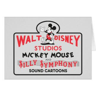 Vintage Walt Disney Studios Card