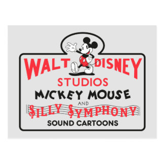 Vintage Walt Disney Studios Postcard