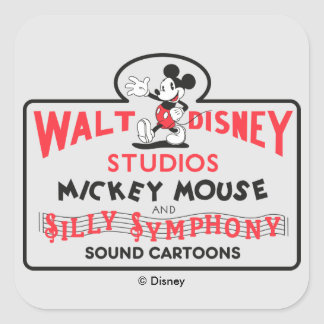 Vintage Walt Disney Studios Square Sticker