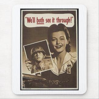 Vintage War Advertisement Mouse Pad
