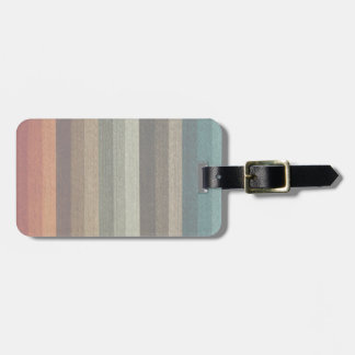 Vintage Warm Autumn Striped Pattern, Earth Tones Bag Tag