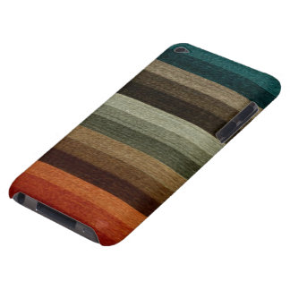 Vintage Warm Autumn Striped Pattern, Earth Tones Case-Mate iPod Touch Case