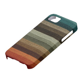 Vintage Warm Autumn Striped Pattern, Earth Tones iPhone 5 Case