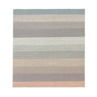 Vintage Warm Autumn Striped Pattern, Earth Tones Note Pads