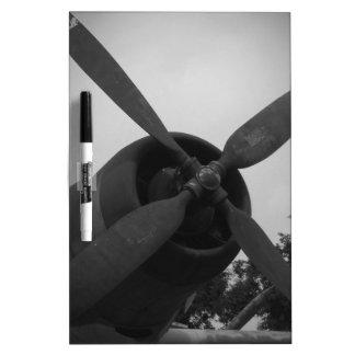 Vintage warplane dry erase white board
