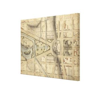 Vintage Washington D.C. Capitol Hill Map (1815) Canvas Print