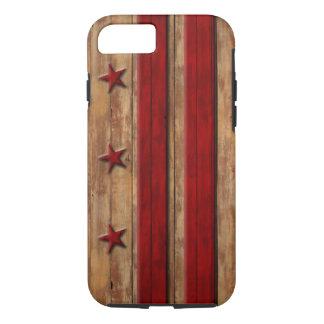 Vintage Washington D.C. Flag Distressed Wood Look iPhone 7 Case