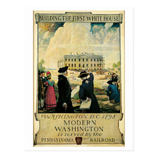 Vintage Washington DC travel advert Postcard