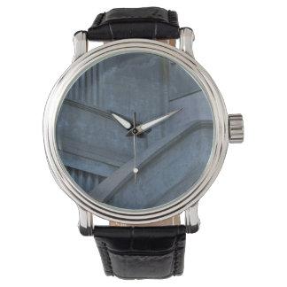 Vintage Watch Art Deco Design Leather Strap