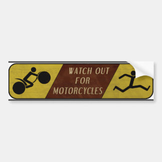Vintage Watch Out For Motorcycles Bumper Sticker