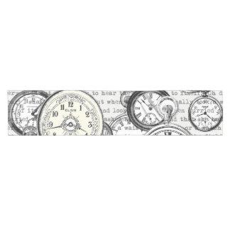 Vintage Watches Alice in Wonderland Short Table Runner