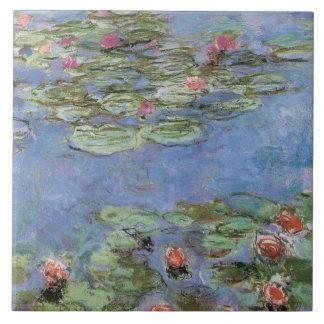 Vintage Water Lilies Tile