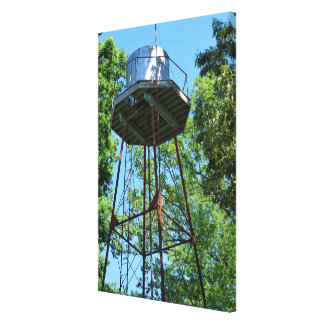Vintage Water Tank Tower Canvas Print