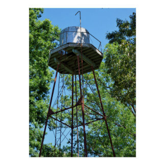 Vintage Water Tank Tower Poster