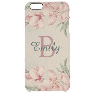 Vintage Watercolor Pink Floral Clear iPhone 6 Plus Case