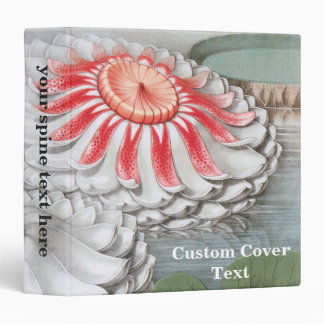 Vintage Waterlilies Flowers in a Garden Pond Vinyl Binders
