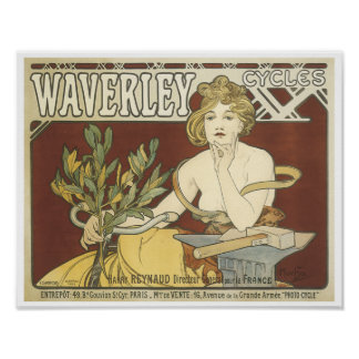 Vintage Waverly Cycles Poster