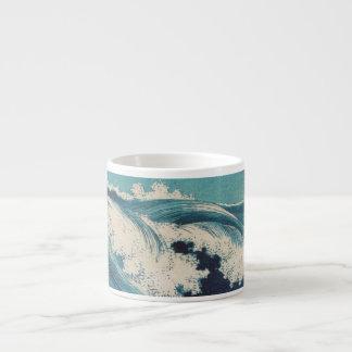 Vintage Waves Japanese Woodcut Ocean Espresso Mug
