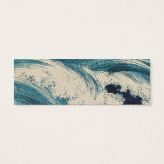 Vintage Waves Japanese Woodcut Ocean Mini Business Card
