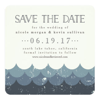 Vintage Waves Lakeside Save the Date Card