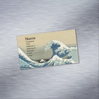 Vintage Waves Ocean Sea Boat Business Card Magnet