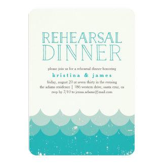 Vintage Waves Rehearsal Dinner Invitation