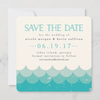 Vintage Waves Save the Date