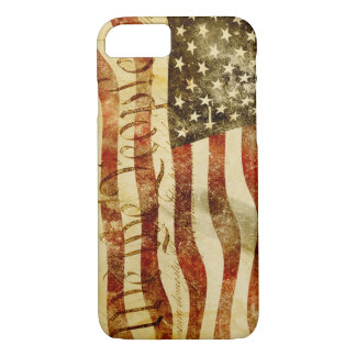 Vintage 'We The People' USA flag iphone 7 case
