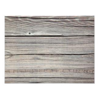 Vintage Weathered Wood Background - Old Board Photo Print