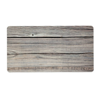 Vintage Weathered Wood Background - Old Board Shipping Label