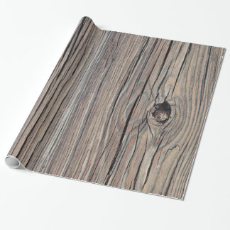 Vintage Weathered Wood Background Old Wooden Board Wrapping Paper