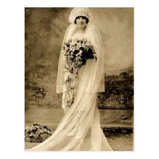Vintage Wedding A Bride Postcard