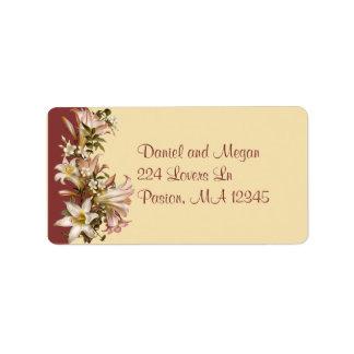 Vintage Wedding Address Avery Label