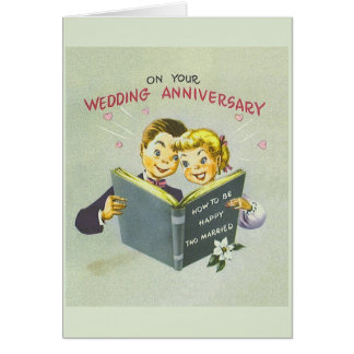 Vintage Wedding Anniversary Greeting Card