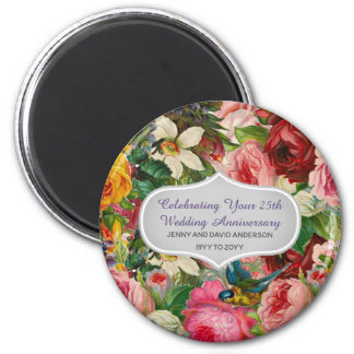 Vintage Wedding Anniversary ROSES - Commemorative Magnet